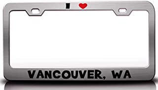 Custom Brother - I Love Vancouver WA USA Canada Steel License Plate Frame Tag Holder Ch
