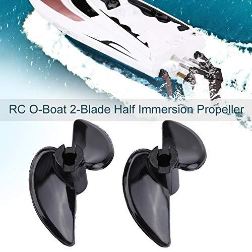 Dilwe RC Boat Blade Propeller, CNC 2-Blade Half Immersion Propeller mit hoher Effizienz für elektrische RC O-Boat Zubehörteile( 2 Paare)
