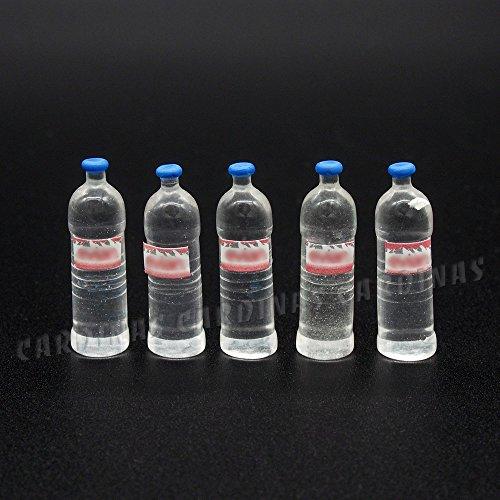 Odoria 1/12 Miniatura 5PZ Botella de Agua Bebidas Cocina Accesorio para Casa...