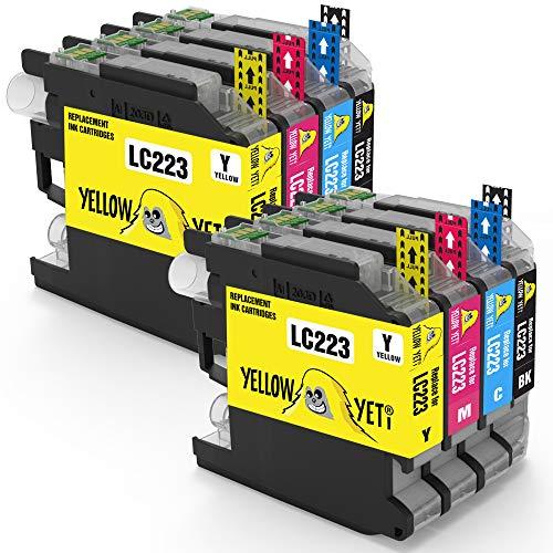 Yellow Yeti Reemplazo para Brother LC223 8 Cartuchos de Tinta compatibles con Brother DCP-J4120DW MFC-J5320DW MFC-J5620DW MFC-J4420DW MFC-J4620DW MFC-J4625DW MFC-J680DW J5720DW MFC-J480DW DCP-J562DW