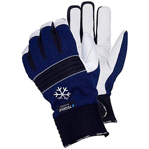 Ejendals Lederhandschuh Tegera 297, Größe 10, 1 Stück, schwarz/blau/weiß, 297-10