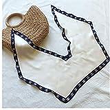 ZXP Protector Solar Verano Mantón Pañuelos de Mujer Pañuelos con Pequeño pañuelos de Seda, adecuados for la excursión de Partes y Camina (Color : A)