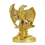 JY&WIN China Feng Shui Adler Estatua Riqueza Animal Escultura Estatua Falke estatuilla Oficina hogar Sala de Estar decoración, Oro