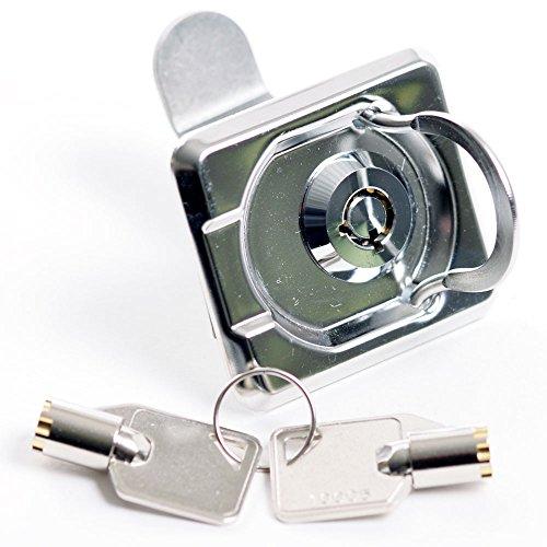 Einlassgriff Bodenheber mit Schloss Schlüssel Riegel 55 x 48 mm Kiste Luke Klappe Tür Fenster
