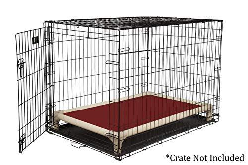Kuranda Almond PVC Chewproof Dog Crate Bed - Large (40x25) - Ballistic - Burgundy
