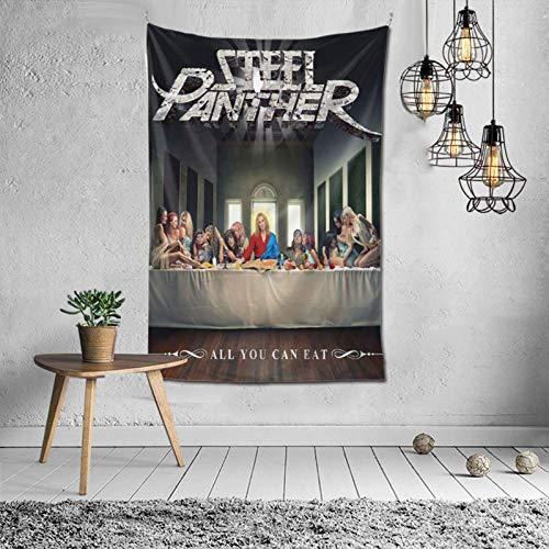 Pantera de Acero Todo lo Que Puedas Comer Tapiz Colgante de Pared Arte tapices decoración para Dormitorio Sala de Estar Dormitorio
