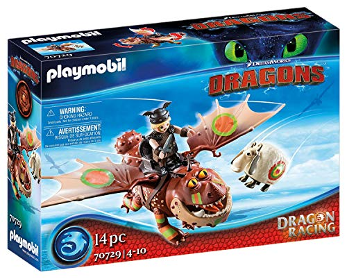 PLAYMOBIL DreamWorks Dragons 70729 Dragon Racing: Fischbein und Fleischklops, Ab 4 Jahren