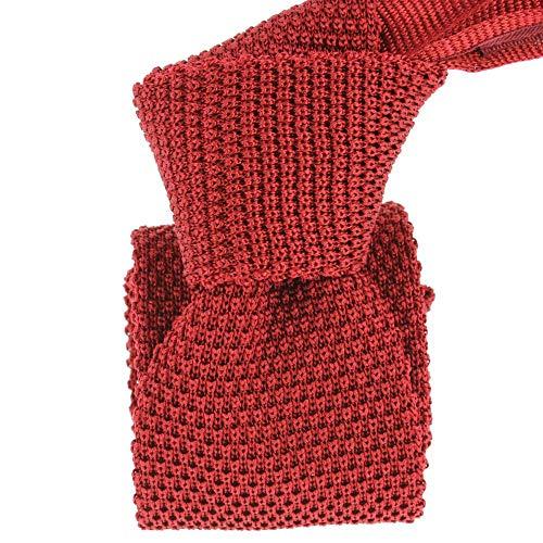 Tony & Paul - Cravate Tricot Rouge Peonia, Soie