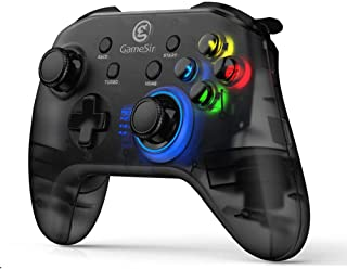 GameSir T4 Wireless PC Controller Wired Game Gamepad 4 Customizable Buttons Showstopping Lighting Dual Shock for Windows 10/8.1/8/7
