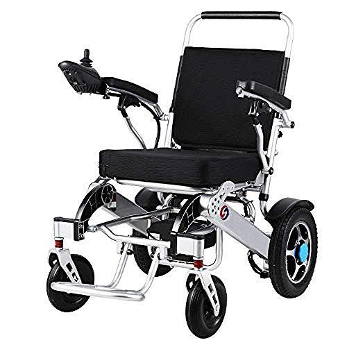 BXZ Silla de ruedas Transit Travel Silla de ruedas para personas mayores, discapacitadas y discapacitadas Sillas de ruedas eléctricas Marco de aleación de aluminio inteligente para personas mayores y