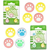 Funkee 8Pcs Thumb Grip Caps Switch Lite Soft Smooth Silicon Joystick Caps Cute Cartoon Grip Cover with Cat Claw Design for Gamer PS4 Controller