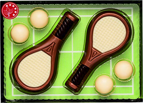 Geschenkpackung Tennis aus Schokolade