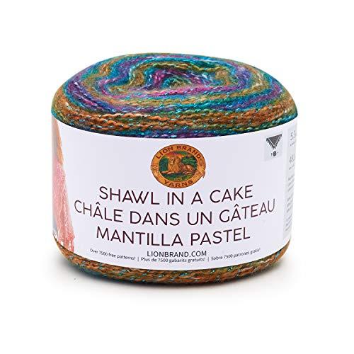 Lion Brand Yarn Shawl in a Cake- Metallic Yarn, Prism