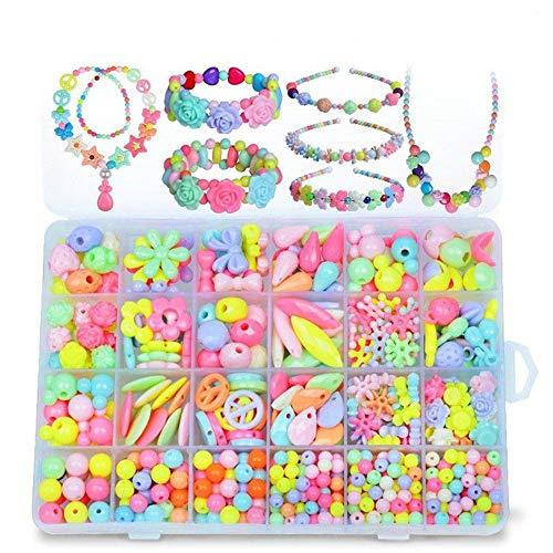 Rompecabezas De Bloques De Construcción De Bricola Joyería DIY pulsera de perlas collar de la muchacha fijaron con la caja Snap pop rompecabezas de juguete de regalo Use Juguetes Para Bebés Para Pract