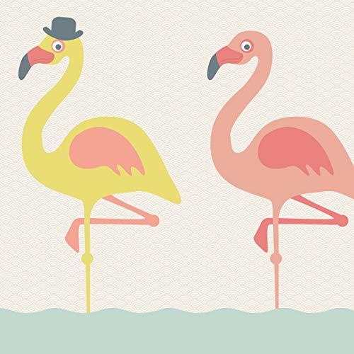 Anna Wand Maxi-Bordüre Funny Flamingos selbstklebend – Wandbordüre Kinderzimmer/Babyzimmer mit fröhlichen, bunten Vögeln - Wandtattoo...
