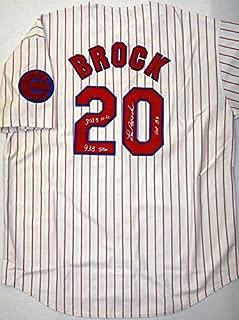 Lou Brock Autographed Jersey - St Cloud Rox Cubs Minor League - Autographed MLB Jerseys