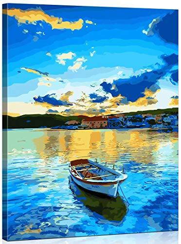 Toudorp Pintura al óleo de Bricolaje por números Paisaje, Lienzo Pintura...
