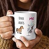 Tía Gifts - Taza de regalo de cumpleaños, diseño de unicornio con texto en inglés 'Other Aunts Versus Me'