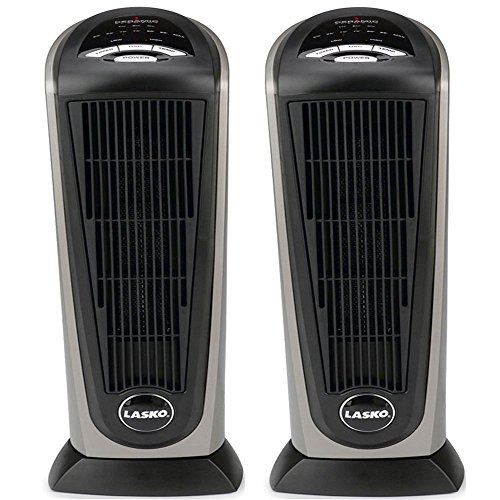 Lasko 751320 Ceramic Tower Heater with Remote Control (2-Pack)