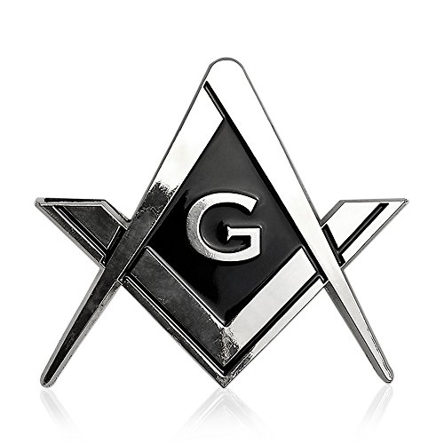 Cut Out Shaped Square And Compass Masonic Car Emblem For Freemasons