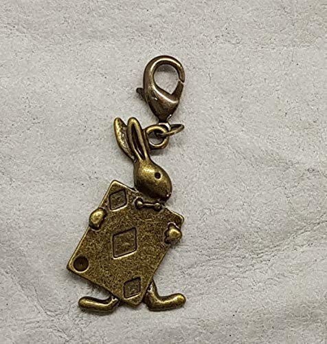 Charm Osterhase Steampunk Hase Anhänger Karabiner Bettelarmband Schlüsselanhänger Kette Farbe: bronze