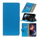 SWMGO® Flip Portafoglio Custodia per Asus Zenfone Max Plus(M2) ZB634KL/Asus Zenfone Max Shot ZB634KL (Blu)