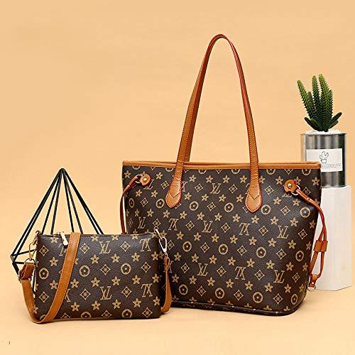 YZJLQML Bolso para Damas Ropa de Mujer Bolso de Mano con Forma de un Solo Hombro, Bolso de Mano, Bolso de Bollos, marrón