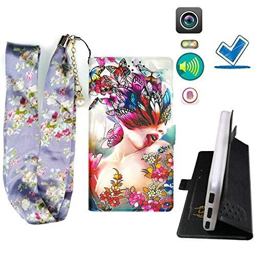Lovewlb Custodia per Qbell Qphone 10.1 Qphone10.1 Custodia Flip in Pelle PU + Cover Case in Silicone Anello Fissa Protezione HD