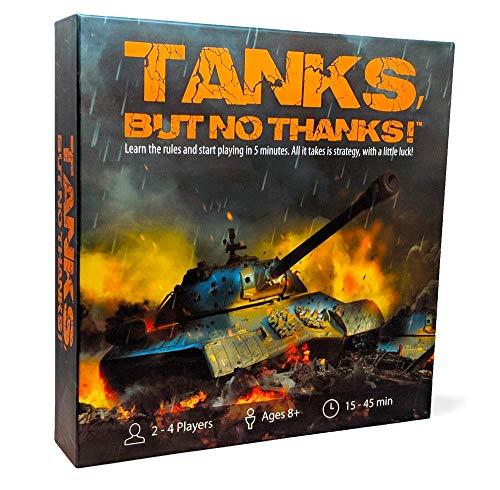 Tanks, but no thanks!!! | Tisch-Strategie-Brettspiel | 2-4 Spieler | 30-40 Min. Spielzeit | Kickstarter-Edition