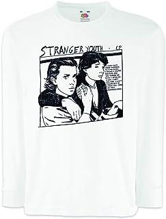 Urban Backwoods Stranger Youth Camisetas de Manga Larga T-Shirt para Niños Niñas