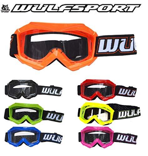 + Cub Goggles 7-8Yrs 7cm Wulfsport Kids Off Road Pro Motocross Helmet Blue L /& Wulf Stratos Gloves XS 53-54cm Kids Race Suit M