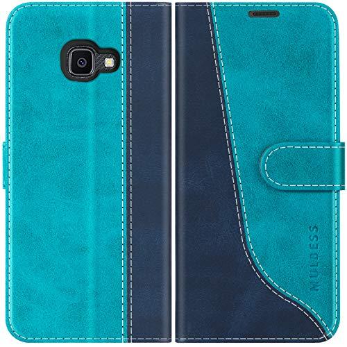 Mulbess Handyhülle für Samsung Galaxy XCover 4s Hülle Leder, Samsung Galaxy XCover 4s Handy Hüllen, Modisch Flip Handytasche Schutzhülle für Samsung Galaxy XCover 4 / 4s, Mint Blau