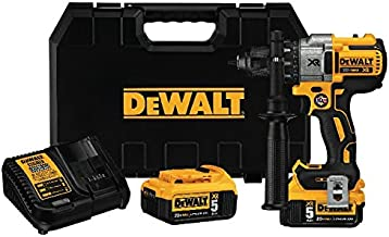 DEWALT DCD991P2 20 V MAX XR Juego de taladro y destornillador de iones de litio sin escobillas de 3 velocidades