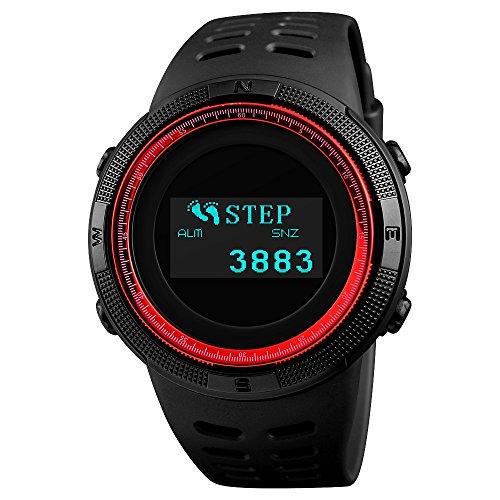 SKMEI Reloj de Pulsera Digital para Hombre, Pantalla OLED, Resistente al Agua,...