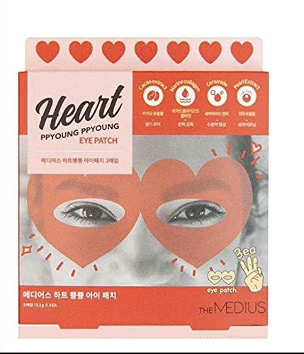 K-Beauty Lot de 3 patchs pour les yeux Motif cœur Ppyoung Ppyoung Type d'hydrogel