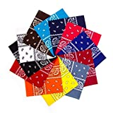 Simes Bandanas 12 Pack, Headbands For Women, Bandanas For Men, Bandanas For Dogs, Organic 100% Cotton Novelty Cowboy Bandana