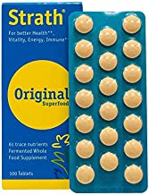 Bio-Strath Tablets Organic Capsules Potent Natural Sourced Ayurveda Vegetarian and Vegan Friendly Easy Swallow Natural Stress and Fatigue Formula From The Switzerland (100 Tablets)