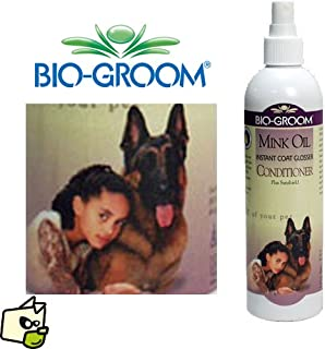 Bio-Groom Mink Oil Instant Coat Glosser Conditioner Spray 12 Ounce