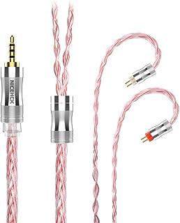 NICEHCK C8s-2 8芯イヤホンオーディオケーブル 高純度銀メッキ銅 OFC 0.78 2Pin 2.5mmプラグ 金属製コネクタ 着脱式 柔らかい アップグレードケーブル 4極 柔らかい 1.2m DIYイヤホンのアクセサリ 耳掛け式...