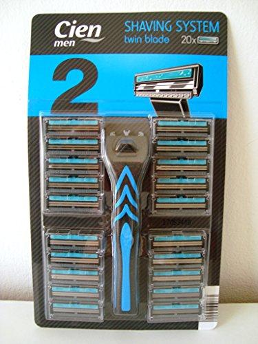 Cien Men Twin Blade Rasierer mit 20 Rasierklingen