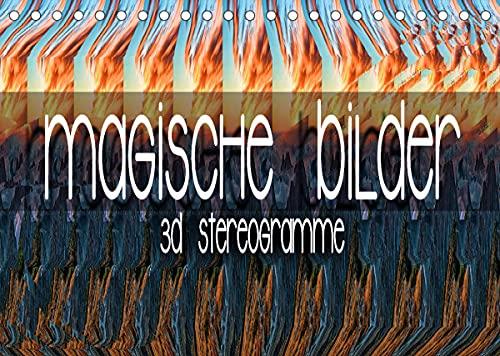 Magische Bilder - 3D Stereogramme (Tischkalender 2022 DIN A5 quer)