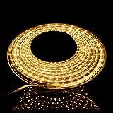 LED Streifen Warmweiß   LED Dimmbar   LED Band 230V   LED Lichtband außen   Wasserdicht nach IP68   Energiesparend  LED Strip 10m