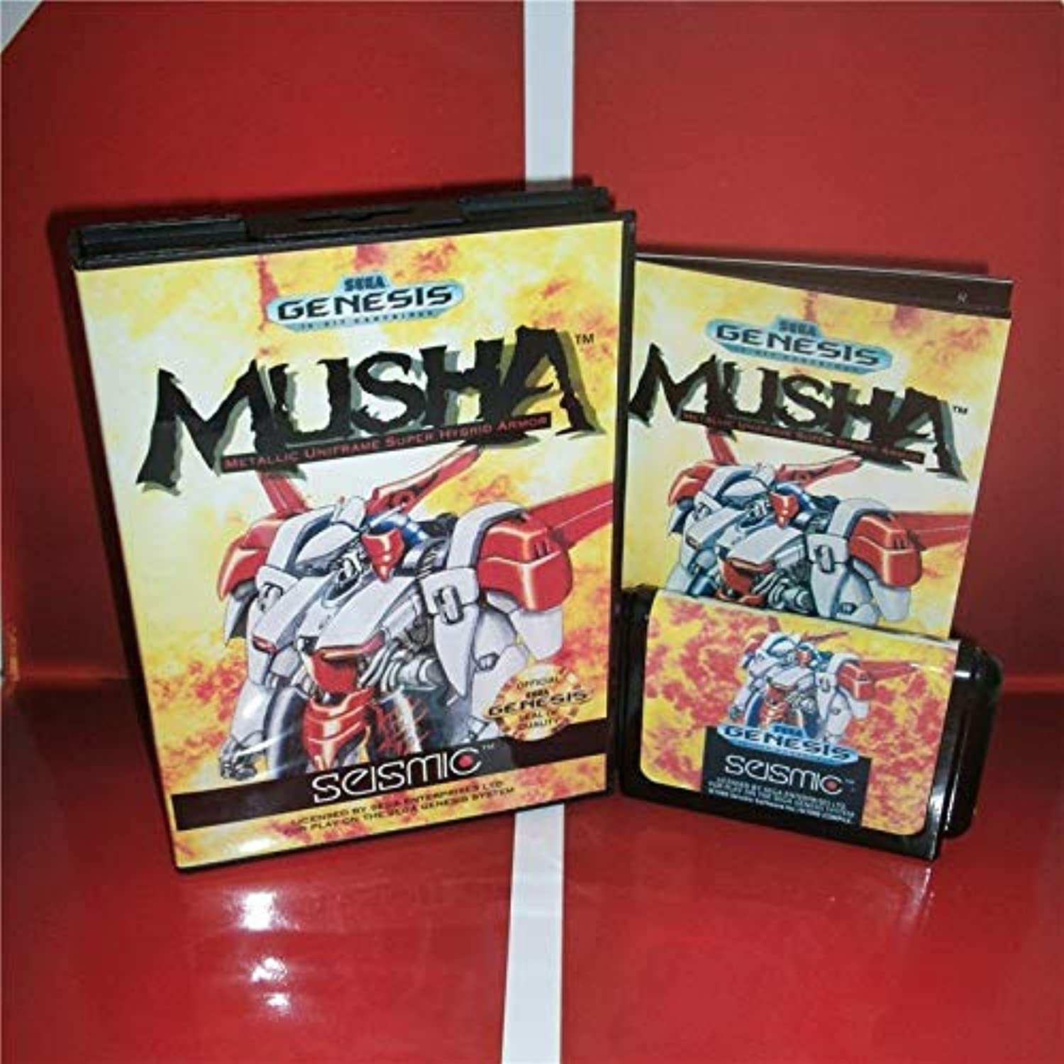 ValueSmartToys  MD Games Card  Musha US Cover with Box and Manual for Sega Megadrive Genesis Video Game Console 16 bit MD Card