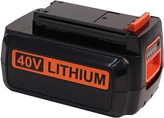 Tenghui 2.5Ah 40 Volt Max Lithium Replacement Battery for Black and Decker 40V Battery LBX2040 LBXR36 LBXR2036 LST540 LCS1240 LBX1540 LST136W Black+Decker Lithium ion Battery