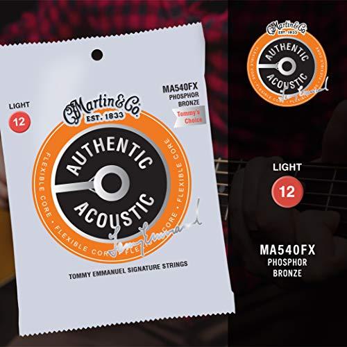 Martin FX Gitarrensaiten für Akustikgitarren (92/8 Phosphor Bronze, flexibler Kern, Zink geflammter Innenkern, Stärke Medium, .012-.054