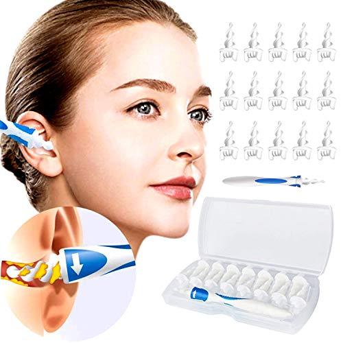 Smart Ear Cleaner - Pulisci orecchie, consente una pulizia delicata e semplice del cerume delle orecchie, include 16 teste di ricambio monouso