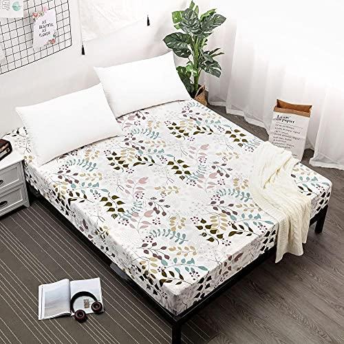 CYYyang Protector de colchón Acolchado - Microfibra - Transpirable Barrera de orina de sábana Impermeable y Antideslizante-4_200cmX200cmX30cm