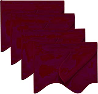 NICETOWN Kitchen Window Blackout Valances - 52 inches x 18 inches Scalloped Rod Pocket Valance Curtain Tiers for Small Window Decor on Christmas & Thanksgiving, Burgundy Red, Set of 4 Panels
