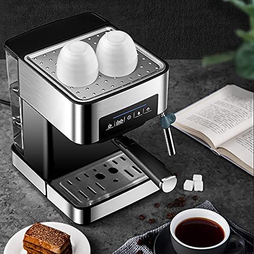 sandy Cafetera Espresso, Pantalla Táctil, Evaporador Ajustable, Cafetera Semiautomática con Espumador de Leche, Pequeña Máquina de Espresso Doméstica de 20 Bares