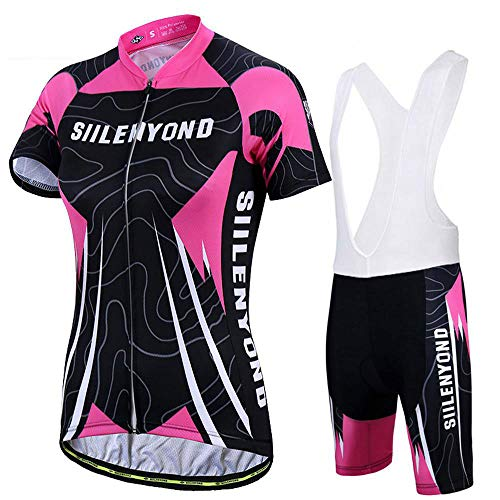 Conjunto Ropa Equipacion Traje Ciclismo Mujer para Verano, Maillot Ciclismo Mujer+Culotte Ciclismo...